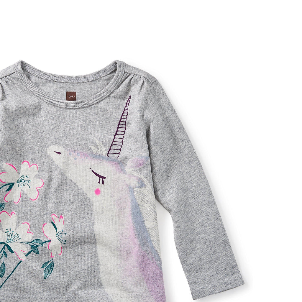Unicorn Garden Graphic Tee-Baby Girl Apparel - Tees-Tea Collection-6-9M-Eden Lifestyle