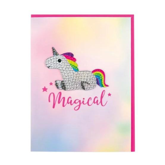 Magical Unicorn Rhinestone Decal Card-Gifts - Kids Misc-Iscream-Eden Lifestyle