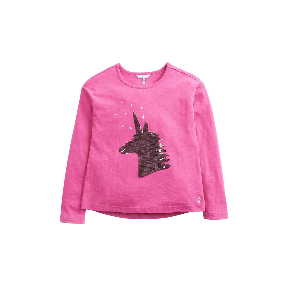 Joules, Girl - Shirts & Tops,  Joules Pink Unicorn Sequin Top