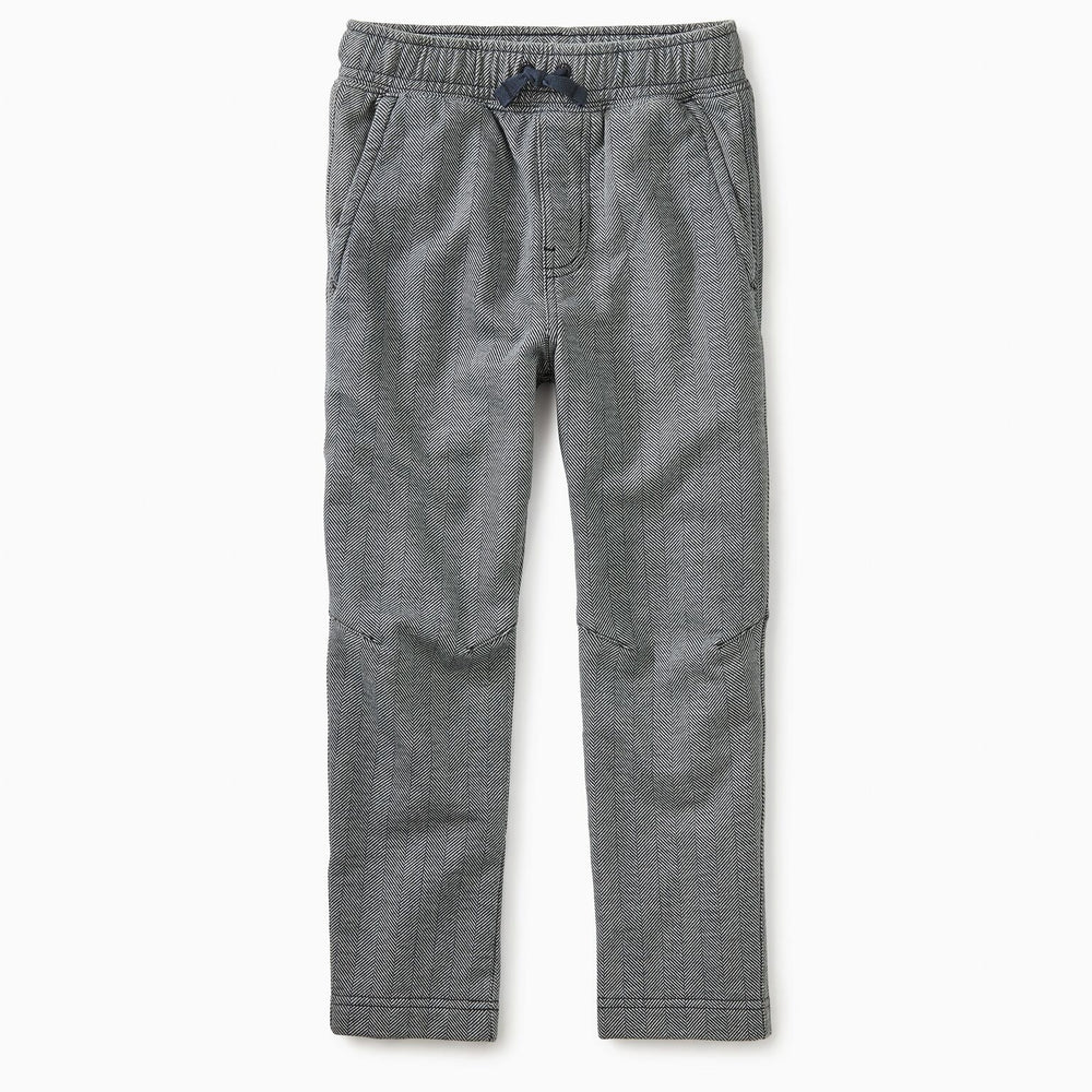 Pattern Trek Pants - Heritage Herringbone-Boy - Pants-Tea Collection-2-Eden Lifestyle