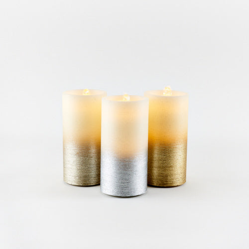 Water Wick LED Pillar Candle Fountain
