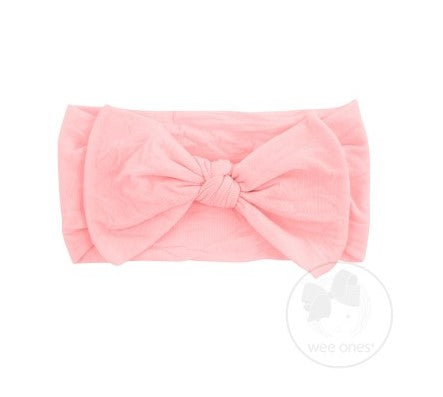 Wee Ones Soft Nylon Baby Band with Nylon Bowtie