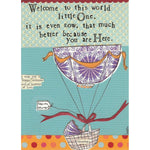 Curly Girl Design, Gifts - Greeting Cards,  Welcome Little One Greeting Card