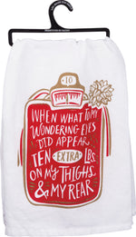 What to my Wondering Eyes Dish Towel