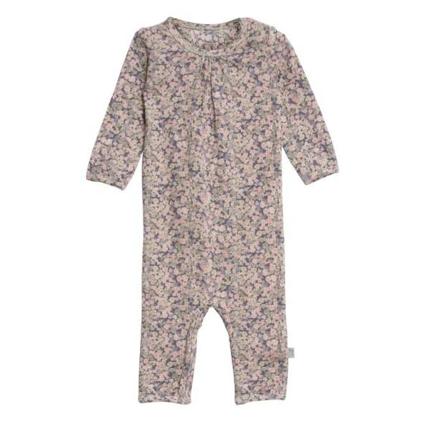 Wheat Jumpsuit Gatherings-Baby Girl Apparel - Rompers-Wheat-Newborn-Eden Lifestyle