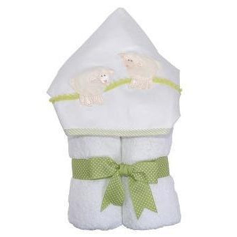 White Lamb Towel-Baby - Bathing-3 Marthas-Eden Lifestyle