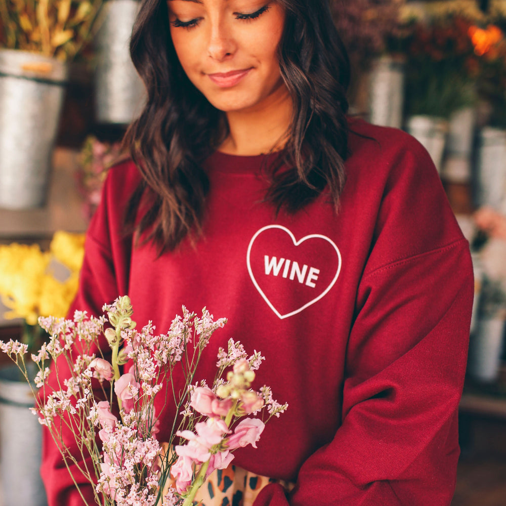Friday + Saturday, Women - Loungewear,  Wine Sweatshirt
