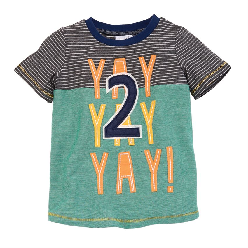 Yay Two Tee-Baby Boy Apparel - Tees-Mud Pie-Eden Lifestyle