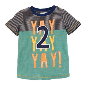 Mud Pie, Baby Boy Apparel - Tees,  Yay Two Tee