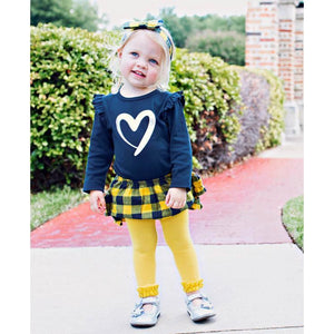 Ruffle Butts, Girl - Leggings,  Yellow Footless Ruffle Tights