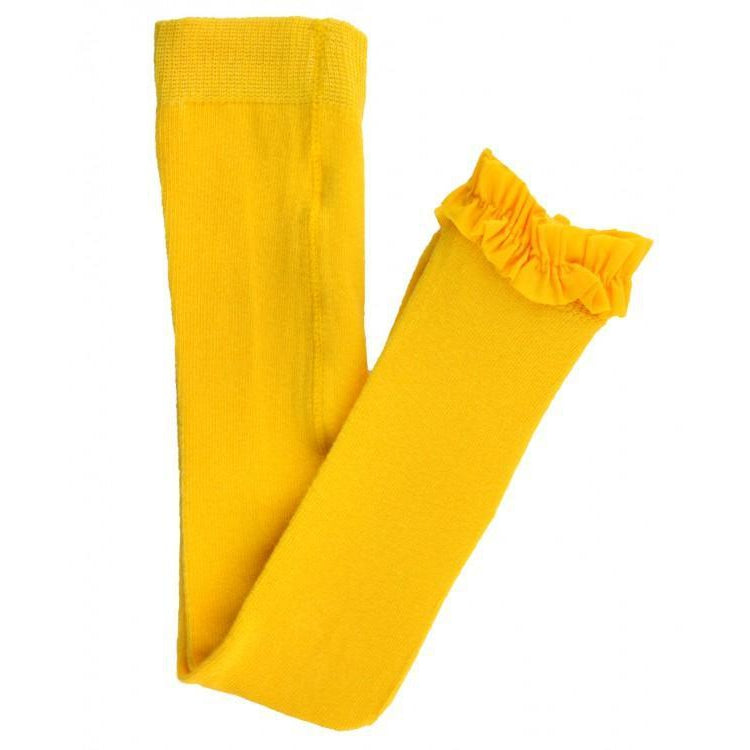 Ruffle Butts, Leggings, Eden Lifestyle, Yellow Footless Ruffle Tights