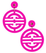 Zoey Hot Pink Earring - Eden Lifestyle