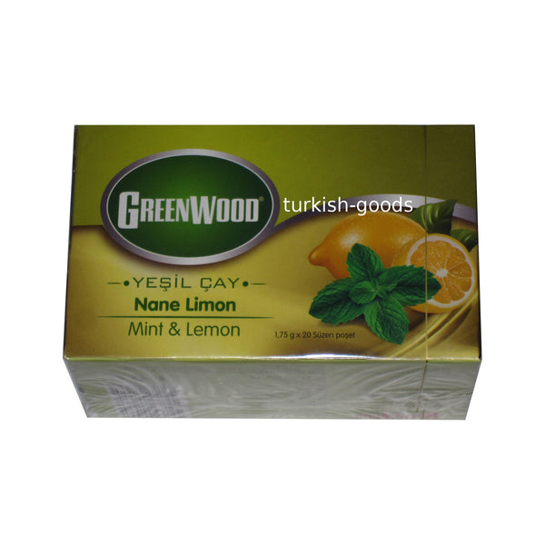 Green Tea with Mint and Lemon - 20 Bags per Pack