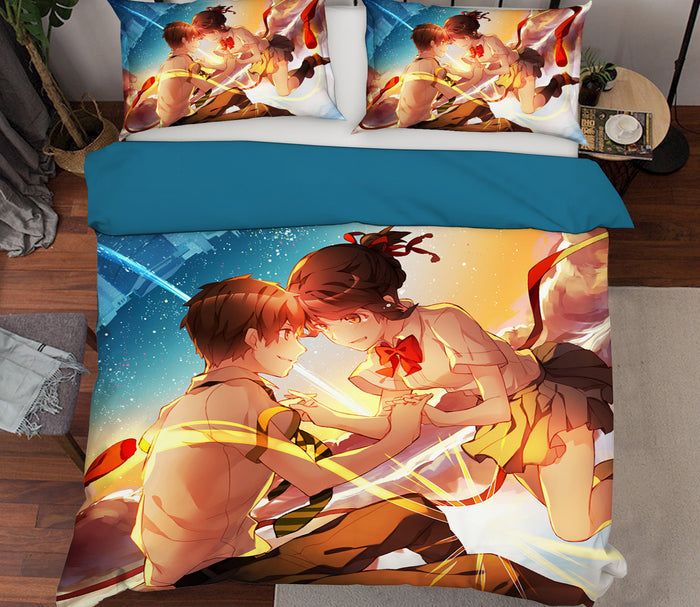 3D Your Name 210 Anime Bed Pillowcases Duvet Cover Quilt Cover