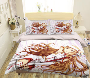 3D Sword Art Online 059 Anime Bed Pillowcases Duvet Cover Quilt Cover