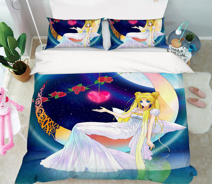 3D Sailor Moon 563 Anime Bed Pillowcases Duvet Cover Quilt Cover