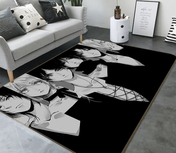 3D Attack On Titan 1609 Anime Non Slip Rug Mat