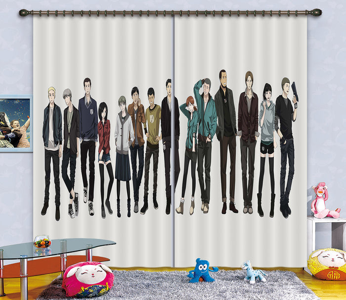 3D Attack On Titan 208 Anime Curtains Drapes