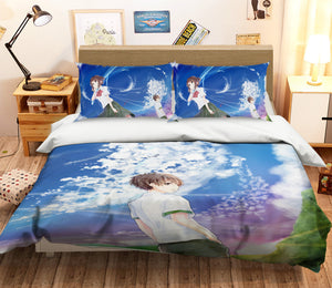 3D Your Name 217 Anime Bed Pillowcases Duvet Cover Quilt Cover