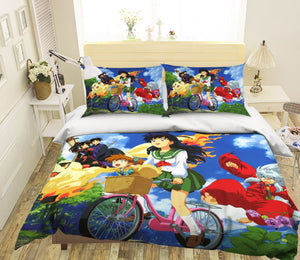 3D Inuyasha 497 Anime Bed Pillowcases Duvet Cover Quilt Cover