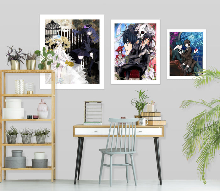 Black Butler A514 Anime Combine Wall Sticker