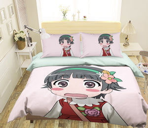 3D Toaru Majutsu No Index 073 Anime Bed Pillowcases Duvet Cover Quilt Cover