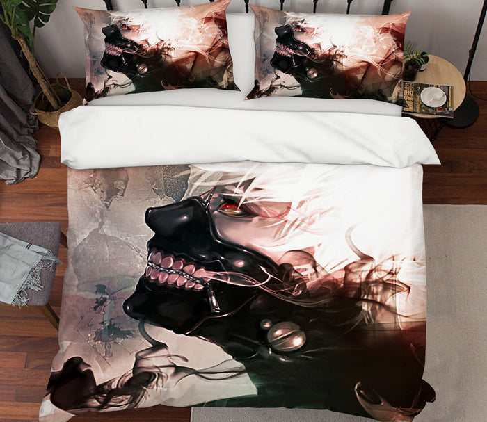 3D Tokyo Ghoul 187 Anime Bed Pillowcases Duvet Cover Quilt Cover