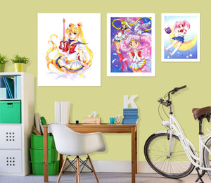 Sailor Moon A863 Anime Combine Wall Sticker