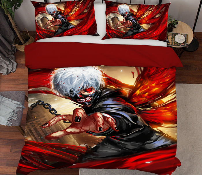 3D Tokyo Ghoul 190 Anime Bed Pillowcases Duvet Cover Quilt Cover