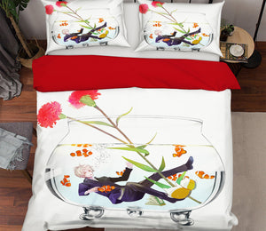 3D Natsume 161 Anime Bed Pillowcases Duvet Cover Quilt Cover
