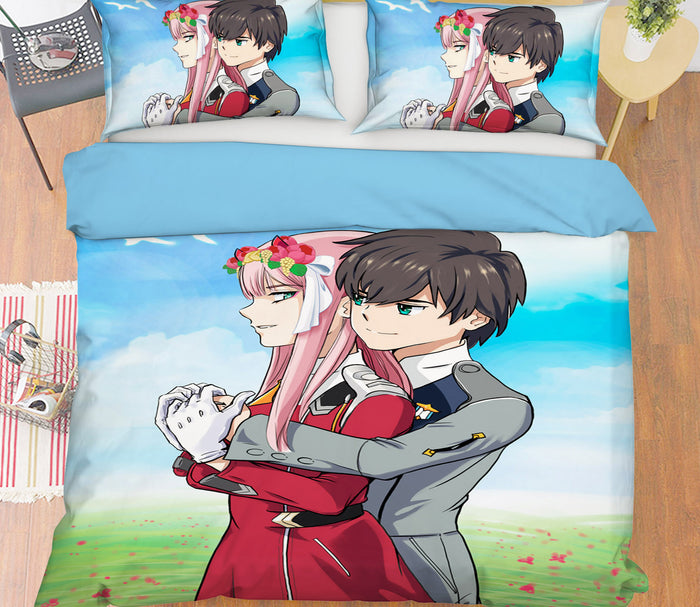 3D DARLING In The FRANXX 269 Anime Bed Pillowcases Duvet Cover Quilt Cover