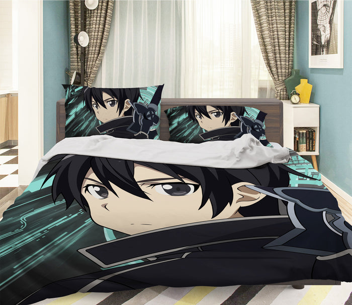 3D Sword Art Online 061 Anime Bed Pillowcases Duvet Cover Quilt Cover
