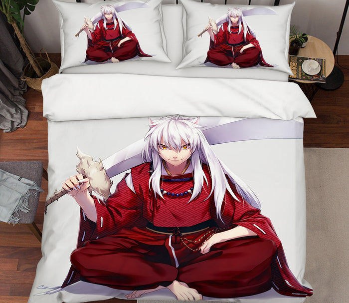 3D Inuyasha 504 Anime Bed Pillowcases Duvet Cover Quilt Cover
