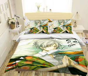 3D Natsume 824 Anime Bed Pillowcases Duvet Cover Quilt Cover