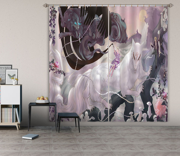 3D Natsume 107 Anime Curtains Drapes