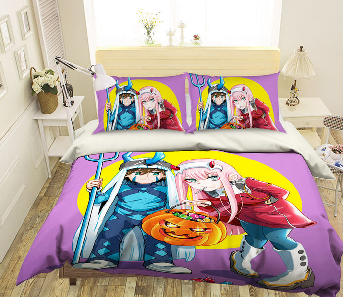 3D DARLING In The FRANXX 272 Anime Bed Pillowcases Duvet Cover Quilt Cover