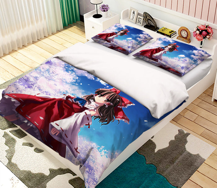 3D Touhou Project 665 Anime Bed Pillowcases Duvet Cover Quilt Cover