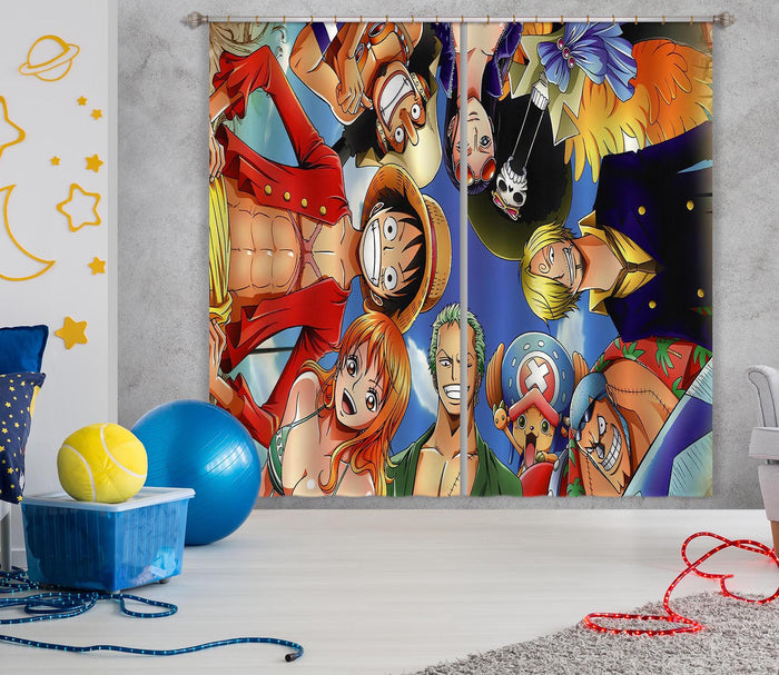 3D ONE PIECE 121 Anime Curtains Drapes