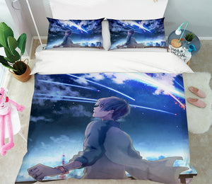 3D Your Name 700 Anime Bed Pillowcases Duvet Cover Quilt Cover