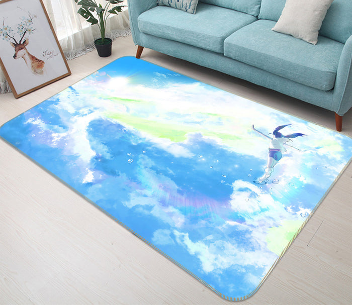 3D Weathering With You 1015 Anime Non Slip Rug Mat
