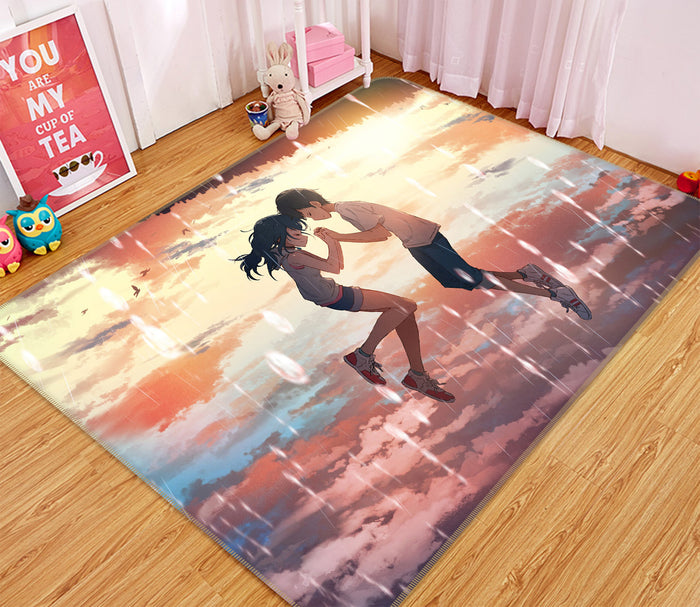 3D Weathering With You 1014 Anime Non Slip Rug Mat