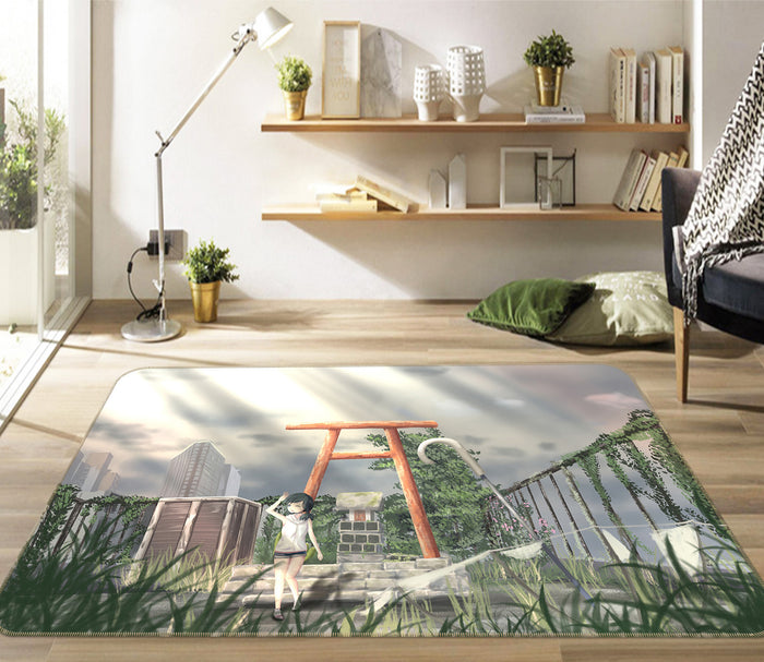 3D Weathering With You 1026 Anime Non Slip Rug Mat