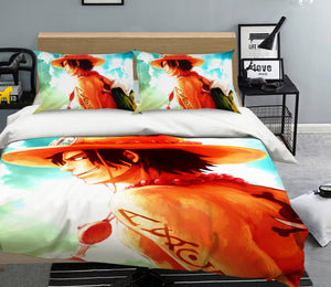 3D ONE PIECE 513 Anime Bed Pillowcases Duvet Cover Quilt Cover