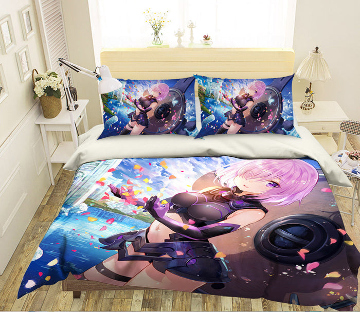 3D Fate Stay Night Grand Order 365 Anime Bed Pillowcases Duvet Cover Quilt Cover