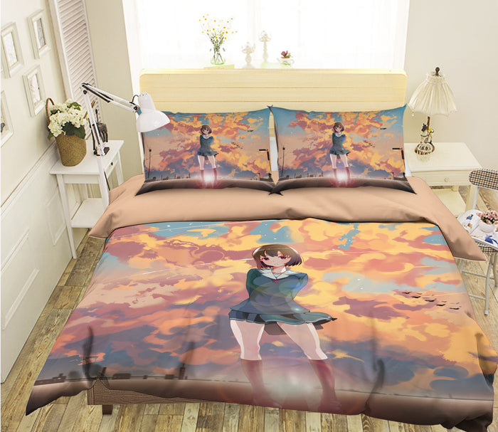 3D Your Name 084 Anime Bed Pillowcases Duvet Cover Quilt Cover
