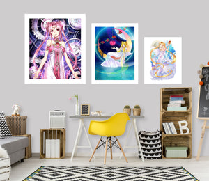 Sailor Moon A914 Anime Combine Wall Sticker