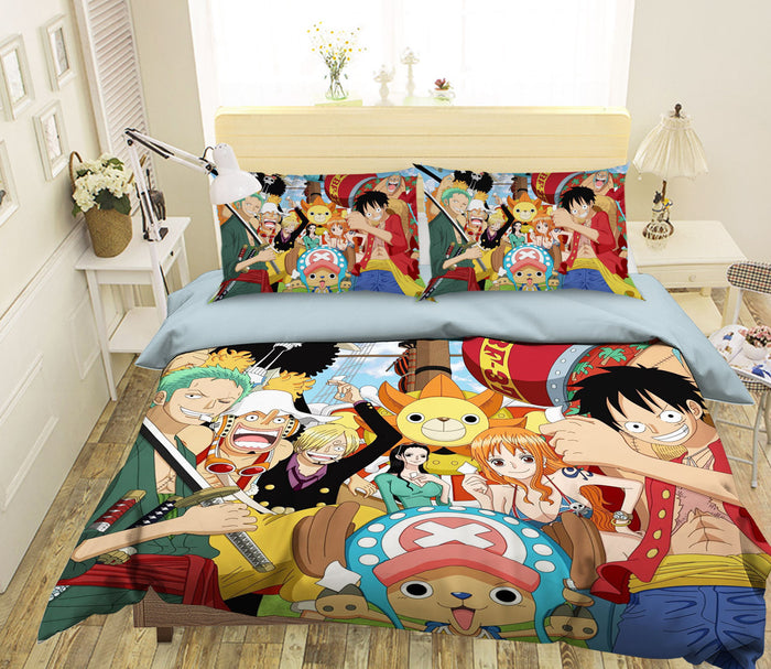 3D ONE PIECE 527 Anime Bed Pillowcases Duvet Cover Quilt Cover