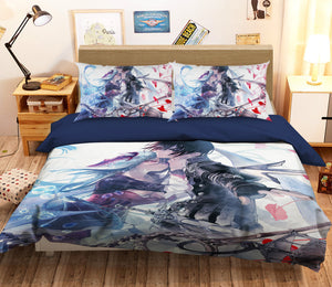 3D Sword Art Online 055 Anime Bed Pillowcases Duvet Cover Quilt Cover