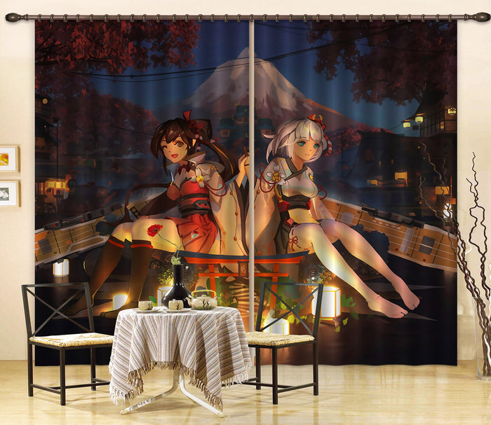 3D Fleet Girls Collection 229 Anime Curtains Drapes