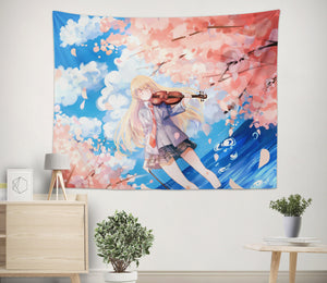 3D Your Lie In April 2368 Anime Tapestry Hanging Cloth Hang